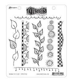 Dyan Reaveley's Dylusions Cling Stamp Collection-Around The Edge, , hi-res