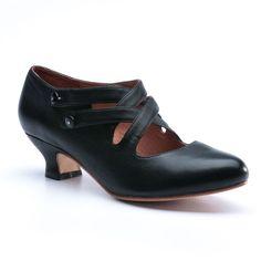 "American Duchess : ""Astoria"" Edwardian Leather Shoes (Black)(Pre-Order)"