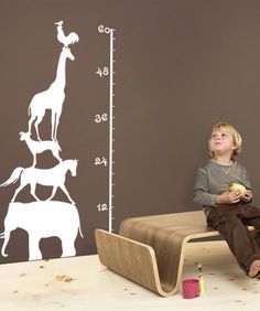 Grow Chart- Wall Decals www.thecallbackcollection.blogspot.com