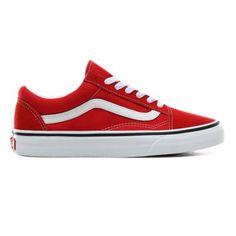 Vans Rouge, Sneakers Fashion, Fashion Shoes, Red Vans, Pumped Up Kicks, Skate Shoes, Vans Old Skool, Vans Classic, Lace Tops