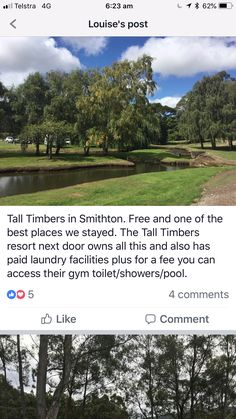 Tall Timbers Smithton Freecamp Right next to the resort. For a small fee you can access the gym, pool etc Tas