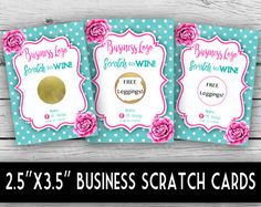 Win Free Stuff, Free Leggings, Scratch Off Cards, Pink Peonies, Business Logo, Note Cards, Stationery, Dots, Graphic Design