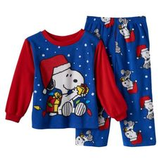 NEW Peanuts Snoopys Christmas Fleece Flannel Pajamas Size 24 M Boy Baby Christmas Gifts, Toddler Christmas, Babies First Christmas, Christmas Pajamas, Christmas Clothes, Christmas Morning, Snoopy Pajamas, Flannel Pajamas