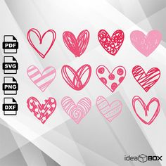 Excited to share the latest addition to my #etsy shop: Hand drawn sketchy hearts SVG VECTOR, Clipart Svg Files, printing design, png, pdf, DXF, Insta Download http://etsy.me/2npfQpC #supplies #printingprintmaking #sketchy #handdrawn #handdrawnhearts #handdrawnsvg #draw
