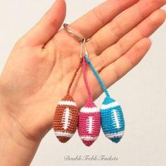 american football keychain crochet pattern