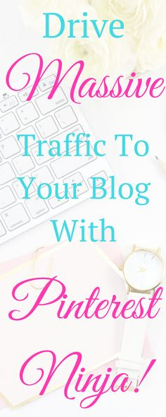 #affiliate Need to up your Pinterest game? Do you want to drive traffic to your blog from Pinterest? Check out Pinterest Ninja and you won't be disappointed!!