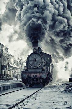onderweg met de trein