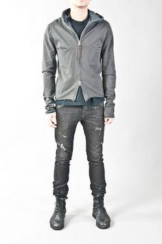 hooded cotton aviator jacket — re. porter