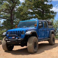 Blue Jeep, Jeep Wave, Jeep Jl, Jeep Wrangler Yj, Jeep Gladiator, Lifted Trucks, Dream Cars, Trail, Monster Trucks