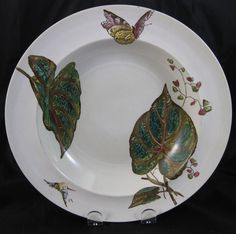 Pair Aesthetic Brown / Polychrome Transferware Large Soup Plates 1880s from englishvictorian on Ruby Lane