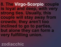 Virgo and scorpio sexual orientation
