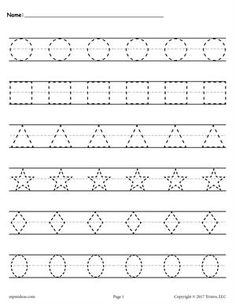 Shapes Tracing Worksheet Page 1