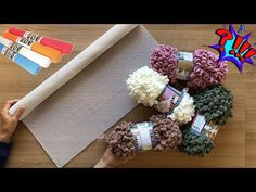 Making rug from Anti-Slip Carpet Pad and Alize Puffy Yarn Yarn Crafts, Diy And Crafts, Crochet Mat, Knit Rug, Latch Hook Rugs, Carpet Padding, Rug Hooking, Weaving, Crafty