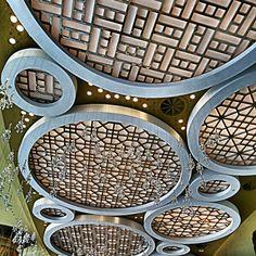Awesome oriental ceiling details, grand lisboa, casino, macau, interior design