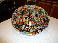 Beer bottle cap tray