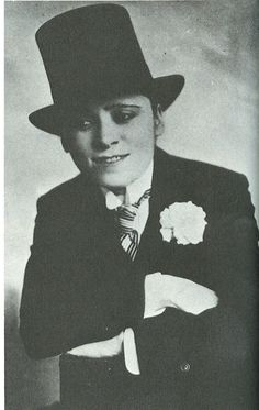 Mae West dressed as a man for Broadway play, 1916