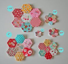 1/2 inch Mini Hexagons English Paper Piecing by sewdeerlyloved