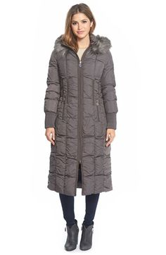 Calvin Klein Faux-Fur-Trim Puffer Down Jacket | macys.com | winter ...