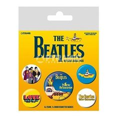 The Beatles Badge Pack (Yellow Submarine) Set of 5 Officially Licensed