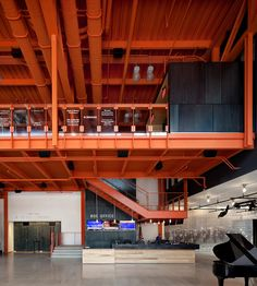 Spillman Farmer Architects Receive AIA Pennsylvania Award for ArtsQuest Center at SteelStacks Industrial Architecture, Industrial Interiors, Interior Architecture, Interior Design, Watercolor Architecture, Halle, Factory Architecture, List Of Cities, Warehouse Design