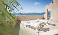 The executive suite balcony at Hotel Dubrovnik Palace