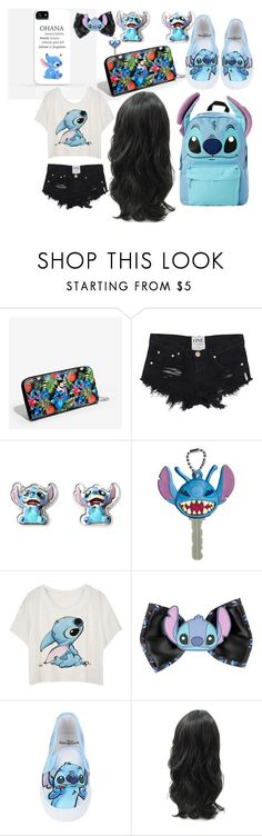"""Stitch at Disney"" by littlericanbaby ❤ liked on Polyvore featuring Disney"