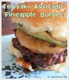 Teriyaki Avocado Pineapple Burgers