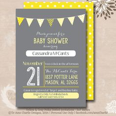 Printable Gender Neutral Baby Shower Invitations  by TeAmoCharlie, $6.00 I really like this one for Shelly!