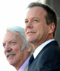 "Kiefer Sutherland - (""24""). .(Big Boss/Venom Snake - MGSV)with his father, Donald Sutherland."