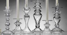 glass candle sticks.