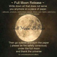 Full Moon Release.