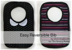 DIY a Reversible Bib: Great Baby Gift . Free tutorial with pictures on how to make a baby bib in under 60 minutes by sewing with pattern, fabric, and ribbing. How To posted by Elisa C. in the Sewing section Difficulty: Simple. Baby Sewing Projects, Sewing For Kids, Sewing Hacks, Sewing Tutorials, Sewing Crafts, Fabric Crafts, Sewing Ideas, Sewing Patterns Free, Free Sewing