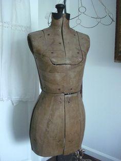 Vintage paper mache dress form