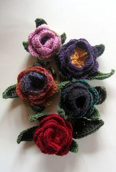 Sielun kääntöpiiri: Virkattu ruusu -ohje