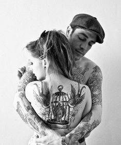 Love her cage with a heart in it might add it to my sleeve idea