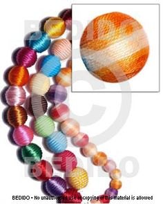 Wrapped Beads Natural White Round Wood Beads Wrapped In Orange Two Toned Crochet Thread/ Price Per Piece Brown Lip, Black Lips, Thread Crochet, How To Make Beads, Wooden Beads, White Roses, Shell, Coconut, Beaded Bracelets