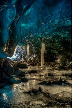The entrance Of The Cave of Mendenhall Glacier ,Juneau, Alaska  This looks So #surreal .. isn't it ? :-) At first It looks like A Graphically modified But It's Real. It's the entrance and inside of Mendenhall Glacier near Juneau, Alaska. This place is heaven for those ones who seek Adventure and Nature :-)  For more travel Updates/Offers and Interesting Stuffs be connected to  Travel Universally