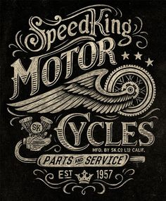 Motorcycle inspired vintage graphics by Michael Hinkle on Behance