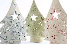 Christmas Tree Tea Light Candle Holders - Sarah McKenna Ceramics