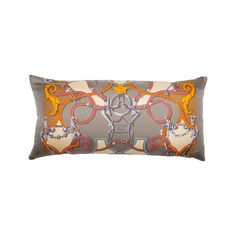 "Vintage Hermès Silk Pillow entitled ""L'Instruction du Roy"" by Henri d'Origny. Equestrian Lover Decor.  Hermes Pillows, Hermes Pillow, Hermes Scarf Pillow, Hermes Decor, Hermes Home, Gray Hermes, Neutral decor, living room throw pillow,"