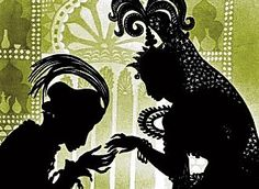 """Made in 1926 by Lotte Reiniger. Based on stories from """"The Arabian Nights"""". The entire film is animated using the silhouette technique, which employs movable cardboard and metal cutouts posed in front of illuminated sheets of glass."""