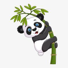 Vector illustration of Cute funny baby panda hanging on a bamboo tree Cartoon Cartoon, Cartoon Drawings, Animal Drawings, Cute Drawings, Cartoon Characters, Cute Panda Cartoon, Niedlicher Panda, Panda Art, Image Panda