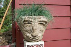 Hypertufa Flower pot Heads.