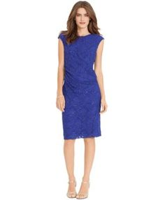 Lauren Ralph Lauren Petite Sequined-Lace Sheath Dress