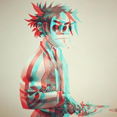 Here is a place where I will post all of the official Gorillaz art. I claim none of this art and it is all created by Jamie Hewlett. I will NOT be posting any fan art (including edits). Jamie Hewlett Art, Monkeys Band, Gorillaz Art, Gorillaz Noodle, Concert Looks, Chibi, Damon Albarn, Tank Girl, Rock