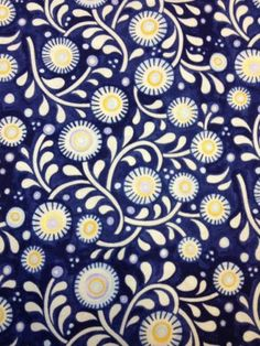R233 Oceanica Blue Designs Julie Paschkis Cotton Fabric Quilt Fabric | eBay