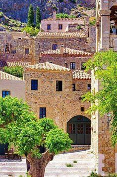 I love gemista: Fotos Places Around The World, Oh The Places You'll Go, Travel Around The World, Places To Visit, Around The Worlds, Wonderful Places, Beautiful Places, Monemvasia Greece, Places In Greece
