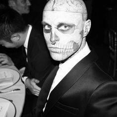 Rick Genest Rick Genest, Cover Tattoo, Canadian Artists, Fashion Models, Actors, Black And White, Black N White, Black White, Models