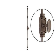 Restorers Classic Cremone Bolt kit is used on double door sets and French doors and allow the user to activate two separate locks at the top and bottom of doors with one handle. Gate Hardware, Antique Hardware, Cabinet Hardware, Window Hardware, Furniture Hardware, Cabinet Doors, Cremone Bolt, Antique French Doors, Traditional Front Doors
