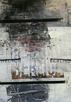 Hector Berlioz by Ward Schumaker -  mixed media on paper 49x34 2009-2010 #composers
